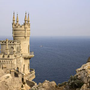 crimea, swallow's nest, sea