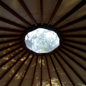 yurt, circle, window